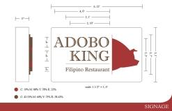 Adobo King Signage