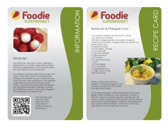 Foodie Information and Recipe Cards 1