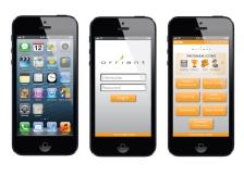 Orriant mobile app design