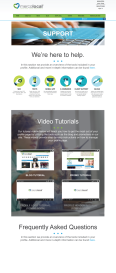 page design with rollover icons and videos