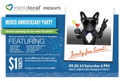 anniversary party mailer