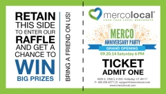 Anniversary party ticket